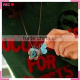 Fashion teen necklace jewelry with butterfly pendant, fancy necklace for girls