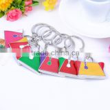Fashion cheap factory slipper keychain shoes keychain color painting alloy metal keychain in bulk