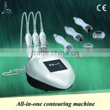 Anti cellulite massager machine, 3 different size handles for eyes lift&face lift&body contouring