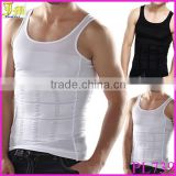 New Men's Slimming Body Shaper Belly Underwear Vest Shirt Corset Compression Black/White