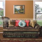 Arabia Style Chesterfield Sofa Bed, Living Room Fabric Couch,Leisure Chaise Longue, Middle East Style Living Room Furniture