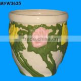 new Porcelain ceramic pot new design cemetery Outdoor Flower Pot