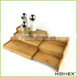 Bamboo expandable spice shelf/ rack Homex-BSCI
