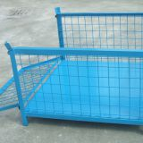 Durable Foldable Wire Mesh Container Steel Power Zinc Coating
