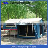 2017 top selling hard floor camper trailer tent top camping with family