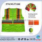 road sign equipment high visibility safety vests bullet proof vests FT-5268 orange yellow other colour
