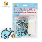 Diyfashion 5mm hama perler fuse beads dolphin sea turtle set with puzzle iron paper and twezzer hama beads toys for kids 18033