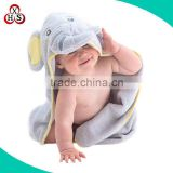 custom swaddle bamboo hooded baby blanket plush elephant blanket