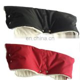 Black Red Plush Warm Winter Hand Muff for Baby Stroller