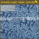 100%cotton denim fabric ,2014 top printed denim fabric discharge print