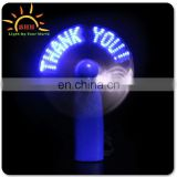 Good quality mini usb fan with customized led message, usb programmable led message fan