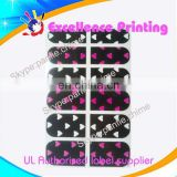 hot sale self adhesive populer nail polish sticker