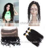 Wholesale Alibaba Lace Frontals raw indian curly hair 360 Lace Frontal Closure