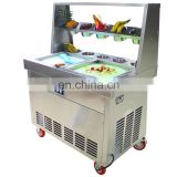110v single pan ice making machine frying ice machine