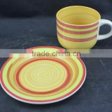 new products 2016 innovative productsstoneware cup and saucer with hand printing cup and saucer with cheap price from china su