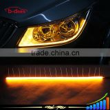 Cotton light universal flexible led drl/ daytime running light white&yellow turning light