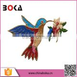 BOKA embroidery peace bird patches factory direct sell applique                                                                         Quality Choice