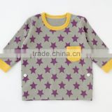 Japanese wholesale cute high quality baby star pattern pajamas kids wear infant clothes children clothing for boy