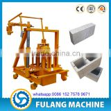 low investment high profit QTF40-3C mini small manual mobile concrete hollow brick blocks forming making machine