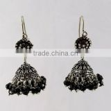 Marcasite Gemstone Black Onyx 925 Sterling Silver Earring, Silver Jewellery Exporter & Suppliers, Handmade Silver Jewellery