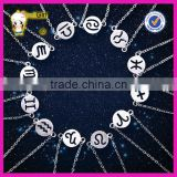 wholesale jewelry zodiac sign bracelet 925 plain silver bracelet for girls