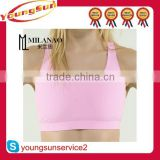 custom made breathable sports bra/ women contrast gym bra/ fitness bra