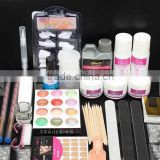 Acrylic Powder Liquid French Nail Art Set Crystal Manicure Kit