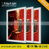 Edgelight AF19 outdoor Slim Aluminous Frame Standing double side slim advertising light box