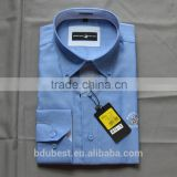 Wholesale Slim Fit Men's Shirts 100% Cotton Machine Wash Business Dress Shirt Men Workwear