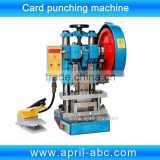 Electric one card pvc card punching machine