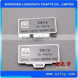 Newest Design Personalized Fancy Alloy Name Badge,OEM Metal Tag For Hotel Staff                                                                         Quality Choice