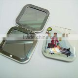 Fashionable Square Cosmetic mirror/Make-up Mirror/Compact Mirror Metal Pocket Mirror Aluminum Purse Mirror