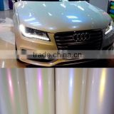 Hot Sales Car Paint Protection Type Pearl White Chameleon Holographic Rainbow Film Foil For Car Wrap Vinyl