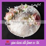 Artificial Rose Flower Lace Coverage Lady Sinamay Hat