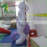 Pretty Lovely PVC Inflatable Animal Cat / Cartoon Girl Toys / Inflatable Mewtwo From Hongyi Factory