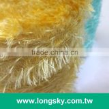 (X-125) Yellow topaze color long hair feathers yarn for decoration