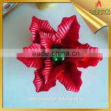 high quality poinsettia flower candle for holiday christmas candle
