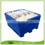 Rotomolded 1000Liter Blue LLDPE Insulated Fish Container, Seafood Processing Insulated Container