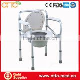 Folding disabled toilet chair