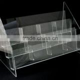 3 Tier 12 Pockets Acrylic Brochure/ Card Leaflet Display Stand ( Holder/Rack/Shelf/Riser/Banner)
