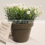 Plastic Artificial Potted Bonsai Flower Baby's Breath Plant for Festive Decor