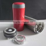 bachelor's double wall stainless steel tumbler vacuum insulated 450ml with tea filter