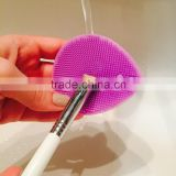 Personalized Cosmetic Wash Facial Brush Silicone Makeup Face Cleaning Brush