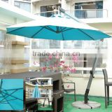 Good quality 3meter round shape hanging advertising sun umbrella for coffee shope and beach