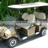 4 forward facing passenger vehicle with solar canopy and custom bamboo wrapping