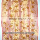 Silk embroidered curtains with loops organza curtains door panel curtains indian heritage look curtains custom made curtains