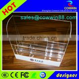 Silkscreen custom logo acrylic electronic cigarette display stand/shop cigarette display rack