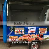 CE food trailer manufacturer street mobile kitchen food truck