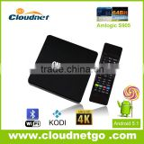 High-end Amlogic S905 Quad Core 4K Magic Box TV Channels 1GB RAM/ 8GB ROM with Bluetooth Wifi 802.11b/g/n Kodi15.2 Loaded