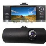 "F60 Dual Lens black box Auto dash cam GPS H.264,SOS,30fp 2.7"" Car DVR"